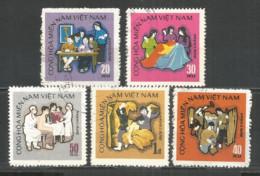 Vietnam Vietcong 1971 Used Stamps , Set - Vietnam