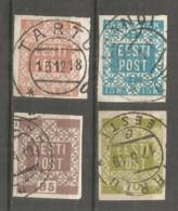 Estonia 1918-19 Years Used Stamps Mich.# 01-04 - Estonia