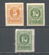 Estonia 1919 Mint Stamps MNH (**) Mi.06-08 - Estonia