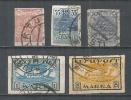 Estonia 1919 Year Used Stamps Mich.# 09-13 - Estonia