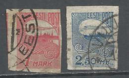 Estonia 1920 Year Used Stamps Mich.# 27-28 - Estonia
