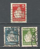 Estonia 1933 Year Used Stamps Mich.# 99-101 - Estonia