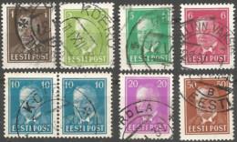 Estonia 1936 Year Used Stamps Mich.# 113-19 - Estonia