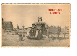 Agriculture Scene Agricole Battage Batteuse Moissons Carte Postale Photo - Cultures