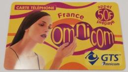 Télécarte - GTS Omnicom - Monde Omnicom - Telecom Operators