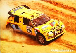 Rallye PARIS DAKAR  1987  Peugeot 205 TURBO 16  - Equipage Team  VATANEN  / GIROUX - Rallyes