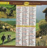 Almanach Du Facteur, Calendrier De La Poste, 1996, Côte D'Or, La Vie à La Ferme: Poules, Foire, Vaches, Mouton, Cheval, - Big : 1991-00