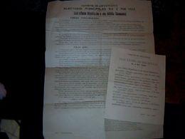 Politique élections Municipales De Coufouleux Tarn Année 1925 --,2 Prospectus - Publicidad