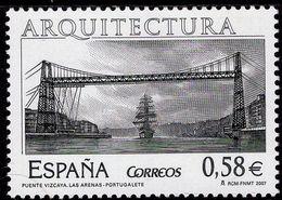 Spain - 2007 - Vizcaya Bridge Las Arenas - Portugalete - Mint Stamp - 1931-Heute: 2. Rep. - ... Juan Carlos I