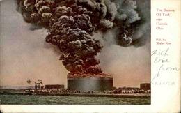 ETATS UNIS - Carte Postale - Fostoria - The Burning  Oil Tank - Incendie Pétrole - L 67926 - Etats-Unis