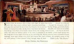 ETATS UNIS - Carte Postale - San Francisco - Hotel Empire  - Sky Room - L 67927 - San Francisco