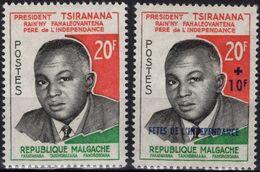 MADAGASCAR 355 356 ** MNH Président De La République Malgache Tsiranana Père De L'Indépendance - Madagascar (1960-...)