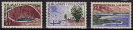 MADAGASCAR 366 367 368 ** MNH Paysages Lac Tritriva Foulpointe Fort Dauphin - Madagascar (1960-...)