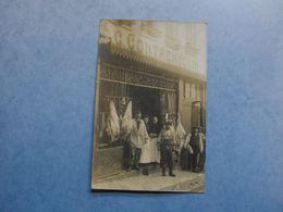 RARE Carte Photo  -  DUCLAIR  -  76  -  Boucherie C.CONTREMOULIN -  Marqué Duclair Au Crayon Au Dos  -  Seine Maritime - Duclair
