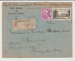 CHARENTE Mme: LA ROCHELLE B / B CàD Hex / LSC Rec De Eglise Réformée De Breuillet De 1948 - Marcofilia (sobres)