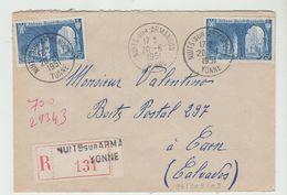 YONNE: NUITS SUR ARMANCON  CàD A6 / LSC Rec De 1951 Pour Caen - Marcofilia (sobres)