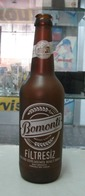 AC - BOMONTI UNFILTERED BEER EMPTY GLASS BOTTLE SCREEN PRINTED - Beer