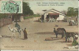 Afrique Occidentale , SENEGAL , Une Escale De Traite ( N'Dande ) , 1912 , CPA ANIMEE - Senegal