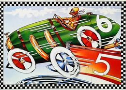 Illustration Course Automobile D'après Peter CLARK - Edts Nugeron  (Carte Trouée -light Hole) - Grand Prix / F1