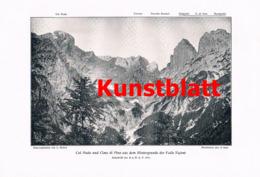 734 Patera Cavallogruppe Karnische Alpen Artikel Von 1911/12 !! - Stampe