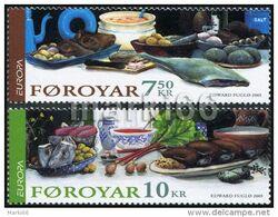 Faroe - 2005 - Europa CEPT - Gastronomy - Mint Stamp Set - Färöer Inseln