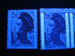 Variété, 2376, 2,20 Liberté De Carnet Dentelé Sur 3 Coté, Sans Phospho, Neuf - 1982-90 Liberté (Gandon)