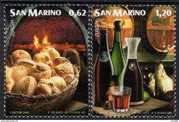 San Marino - 2005 - Europa CEPT - Gastronomy - Mint Stamp Set - Ungebraucht