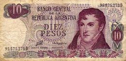 Banco Central De La Republica Argentina - Diez Pesos - 10 - 95.575.273 D - 1871-1952 Antichi Franchi Circolanti Nel XX Secolo
