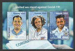 Curaçao 2020 United We Stand Against Covid-19 S/S (3 V.) MNH - Curazao, Antillas Holandesas, Aruba