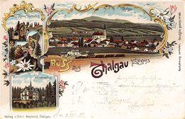 THALGAU Bei SALZBURG AUSTRIA~PANORAMA-RUINE WARTENFELS-AMONENBURG~ 1902 PHOTO POSTCARD 48255 - Thalgau