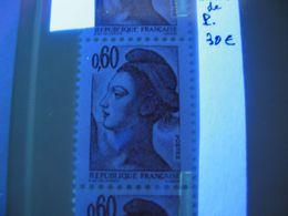 Variété, 2239, Liberté 0,60 Brun, Saut De Phospho, Bande Verticale De 5, Neuf - 1982-90 Liberté (Gandon)
