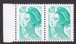Variété, 2181, Liberté 0,20 Sans Phospho Tenant Barre A Gauche, Neuf - 1982-90 Liberté (Gandon)