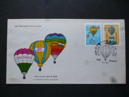 INDIA SG 1104-05 BI CENTENAY OF MAN'S FIRST FLIGHT BALOON 1983 FDC - Ohne Zuordnung