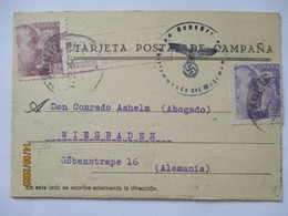 Spanien Zensurkarte 1940 Von Madrid Nach Wiesbaden (24512) - Spanien