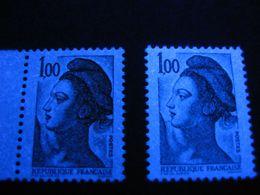 Lot Variété Sans Phospho, 2185 Gomme Brilante/mate, 2484, 2188, Neuf - 1982-90 Liberté (Gandon)