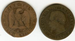 France 5 Centimes 1855 A Ancre GAD 152 KM 777.1 - C. 5 Centimes