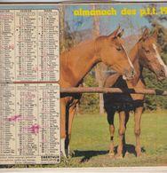 Almanach Du Facteur, Calendrier De La Poste, 1978, Côte D'Or, Chevaux , Petits Canards - Kalender