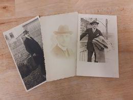 MANN IN DEUTSCHLAND DAZUMAL - DREI MAENNER MIT HUT - 10/20er - HERRENMODE - Personnes Anonymes