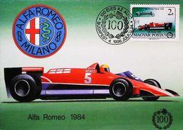 GP 1984 HUNGARY BUDAPEST Alfa Romeo Type  F1  - Oblitération Timbre Auto 1986 - Grand Prix / F1