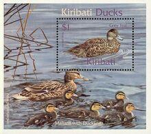 MDB-BK27-332-2 MINT ¤ KIRIBATI 2001BLOCK ¤ - OISEAUX - BIRDS - PAJAROS - VOGELS - VÖGEL - Ducks