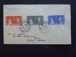 BRITISH HONDOURAS CORONATION POSTMARK BELIZE FDC - Britisch-Honduras (...-1970)