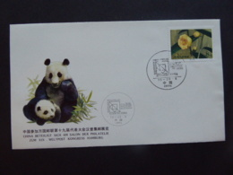 CHINA POSTMARK SALONDER PHILATELIC HAMBURG PANDA THEME 1984 FDC - Non Classés