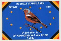 AUTOCOLLANT . STICKER . OISEAU . VOGEL . DE SNELLE SCHUIFELAARS . BATAVIA . TIELT . 1990 . 30° KAMPIOENSCHAP VAN BELGIE - Aufkleber