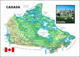 Canada Country Map New Postcard Kanada Landkarte AK - Maps
