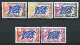 19198 FRANCE Service N°17/21*/** Conseil De L'Europe : Drapeau Du Conseil  1958-59  TB - Ongebruikt