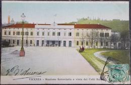 ITALY ITALIA Cartolina 1908 VICENZA Stazione Ferroviaria. - Veneto - Vicenza