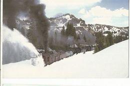 CPSM,Th.Transp., Cumbres & Toltec Scenic Railroad  Snowplow , Oy ,D.& R.G.W. Ed. Mary  Jayne's Railroad - Trenes