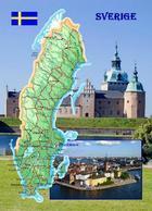 Sweden Country Map New Postcard Schweden Landkarte AK - Maps