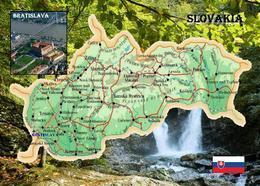 Slovakia Country Map New Postcard Slowakei Landkarte AK - Slovacchia