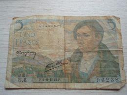 Billet Banque De France 5 Francs 1943 - 5 F 1943-1947 ''Berger''